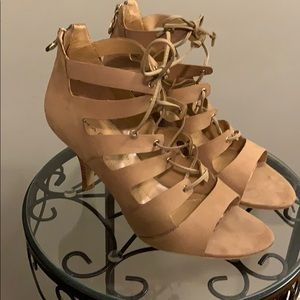 Tahari Tan Lace-Up sandals